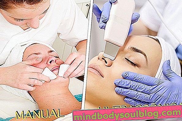段階的なプロの皮膚洗浄