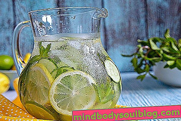 6 aromatisierte Wasserrezepte für zu Hause